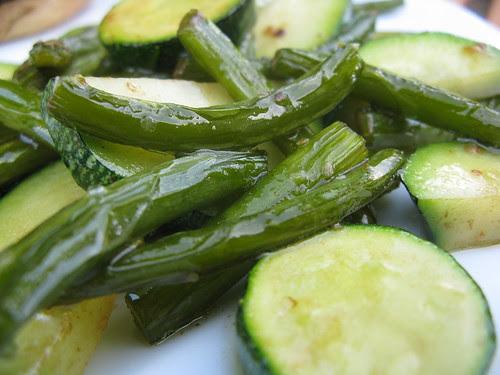 Sauteed Garlic Scapes & Zucchini