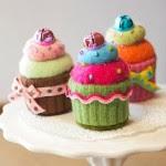 Cupcake da riciclo maglioni Tutorial