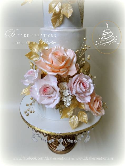 50Th Golden Anniversary Floral Cake   CakeCentral.com