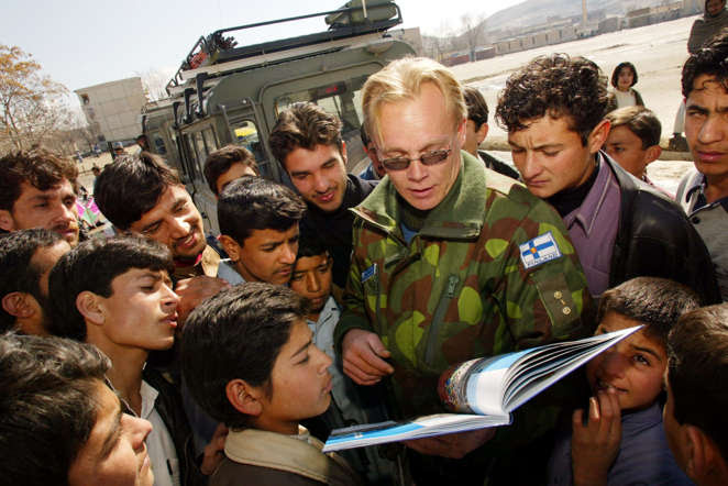 Despite its turbulent history, Finland is the last European nation to enforce compulsory enlistment. However, its military involvement has mainly been restricted with UN peacekeeping missions. Finland's peacekeeping troops are 100% volunteer-based have positioned themselves primarily as mediators instead focusing on education and training.  In picture: A file photo of a Finnish peacekeeper in Afghanistan.
