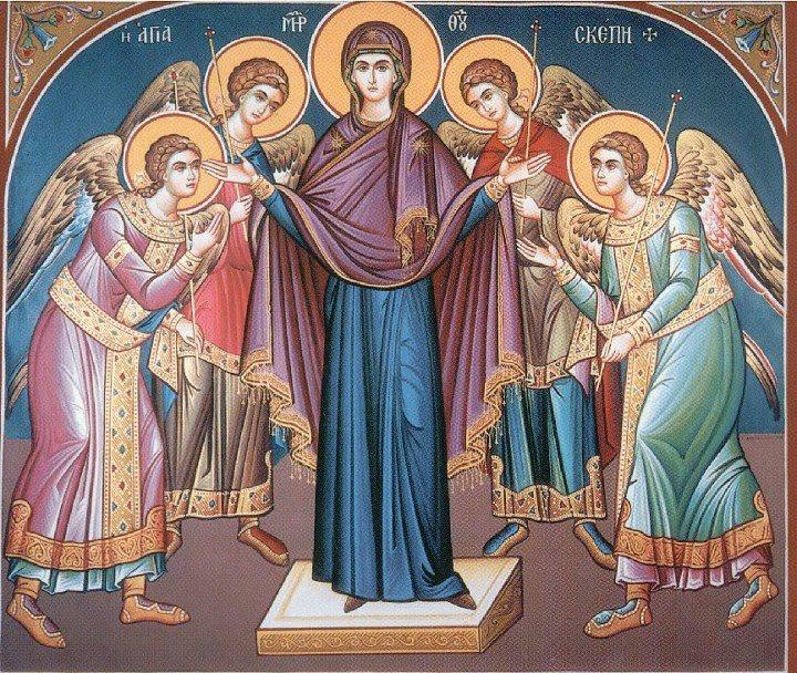 Αποτέλεσμα εικόνας για Αγία Σκέπη της Υπεραγίας Θεοτόκου εν Βλαχερνώ και επέτειος του «ΟΧΙ»