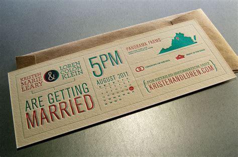 Beautiful & Creative Infographic Wedding Invitations