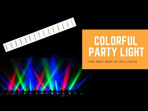 How to Make Colorful DJ Party Light - DIY Lights - Colorful Party Lights