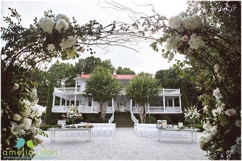dream wedding at old wide awake plantation in hollywood sc