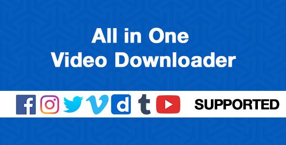 All in One Video Downloader v1.3