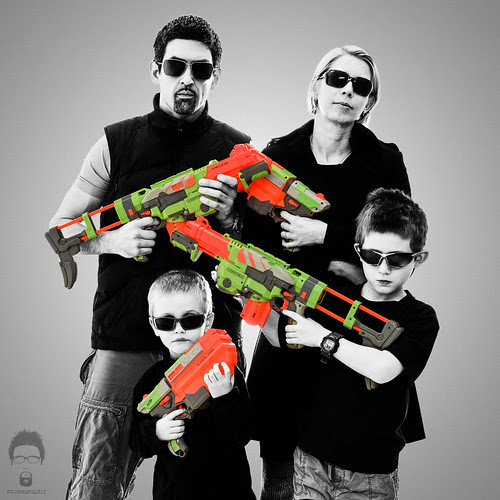 Mr. and Mrs. Smith and the Wesson Sons by Prozac74