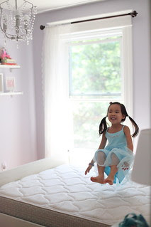 jumping on the bed!