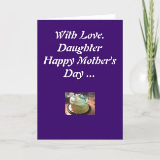 With Love, Daughter Happy Mother's Day... card