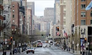 Fotografía que muestra la avenida Boylston, lugar donde se produjeron los atentados en Boston, Massachusetts (Estados Unidos). EFE/Archivo