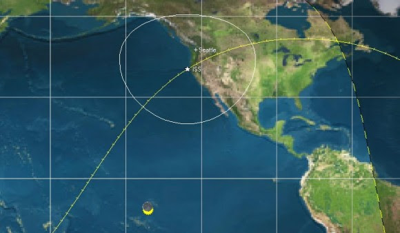ISS path