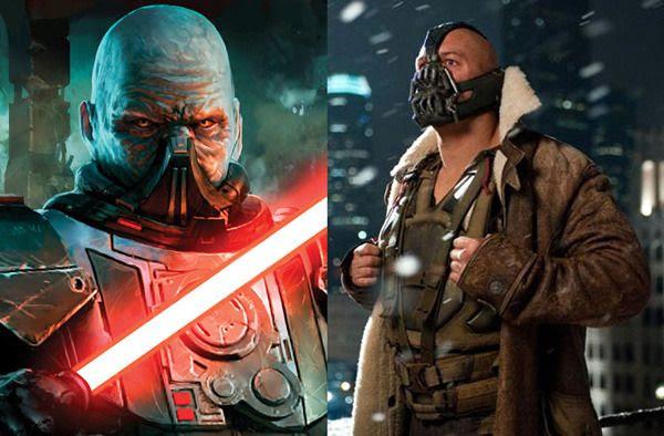 Darth Malgus... The Sith equivalent of Bane in THE DARK KNIGHT RISES.