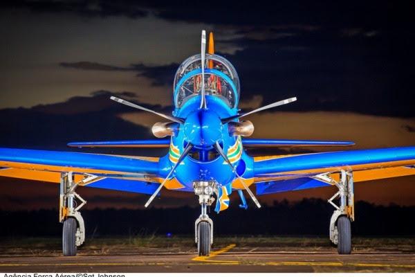 Aeronave A-29 Super Tucano da Fumaça