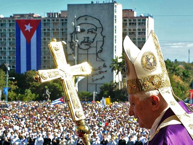Papa Bento XVI esteve em Havana na última quinta (28) (Foto: Osservatore Romano/AFP)