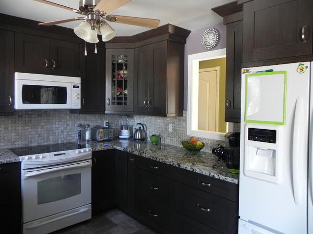 Woodcrest Rift Oak Thunder cabinets - Modern - Kitchen ...