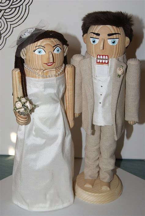 Custom Bride and Groom Nutcrackers   Nutcrackers
