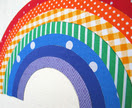 Magnetic rainbow - 7 interactive pieces in bright colours/patterns