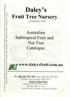 Fruit Tree Catalogue Front Page