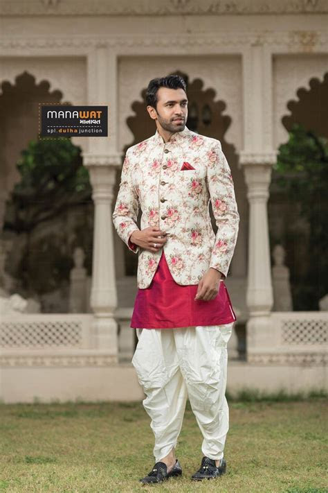 Designer Mens Jodhpuri suits by Manawat   Mens wedding