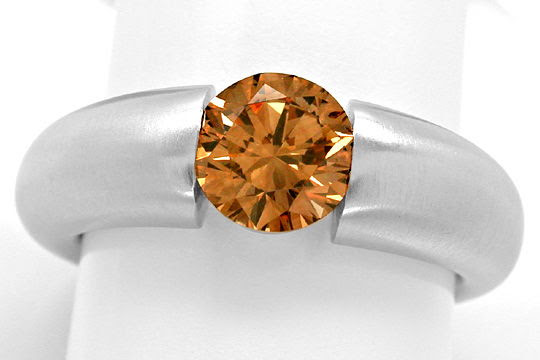 Originalfoto DIAMANT-SPANN-RING 1,26ct ORANGY BROWN SI1 SCHMUCK NEU!