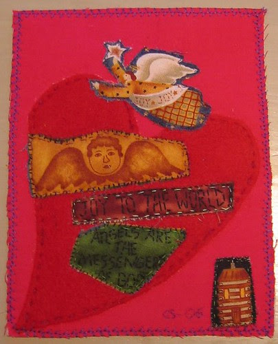 quilted postcard from Grete :: quiltet postkort fra Grete