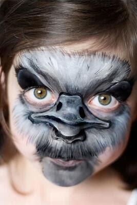 çocukların Yüzlerini Renklendiren Sanat Yüz Boyama çocuk Foto