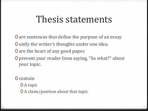 krause notes that in academic writing a thesis statement does what