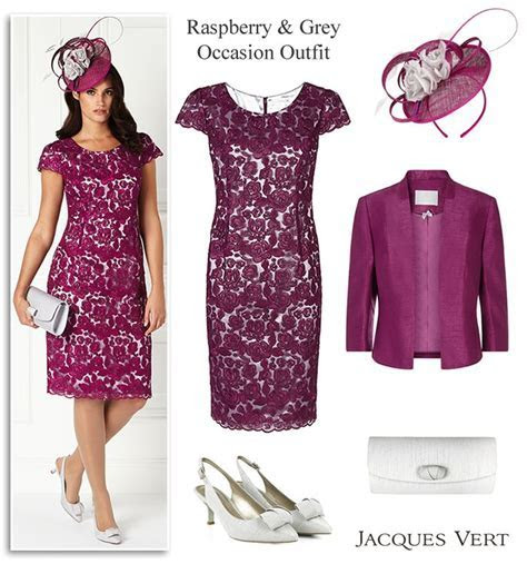 Pink and Grey Two Tone Lace Dress and Jacket Outfit