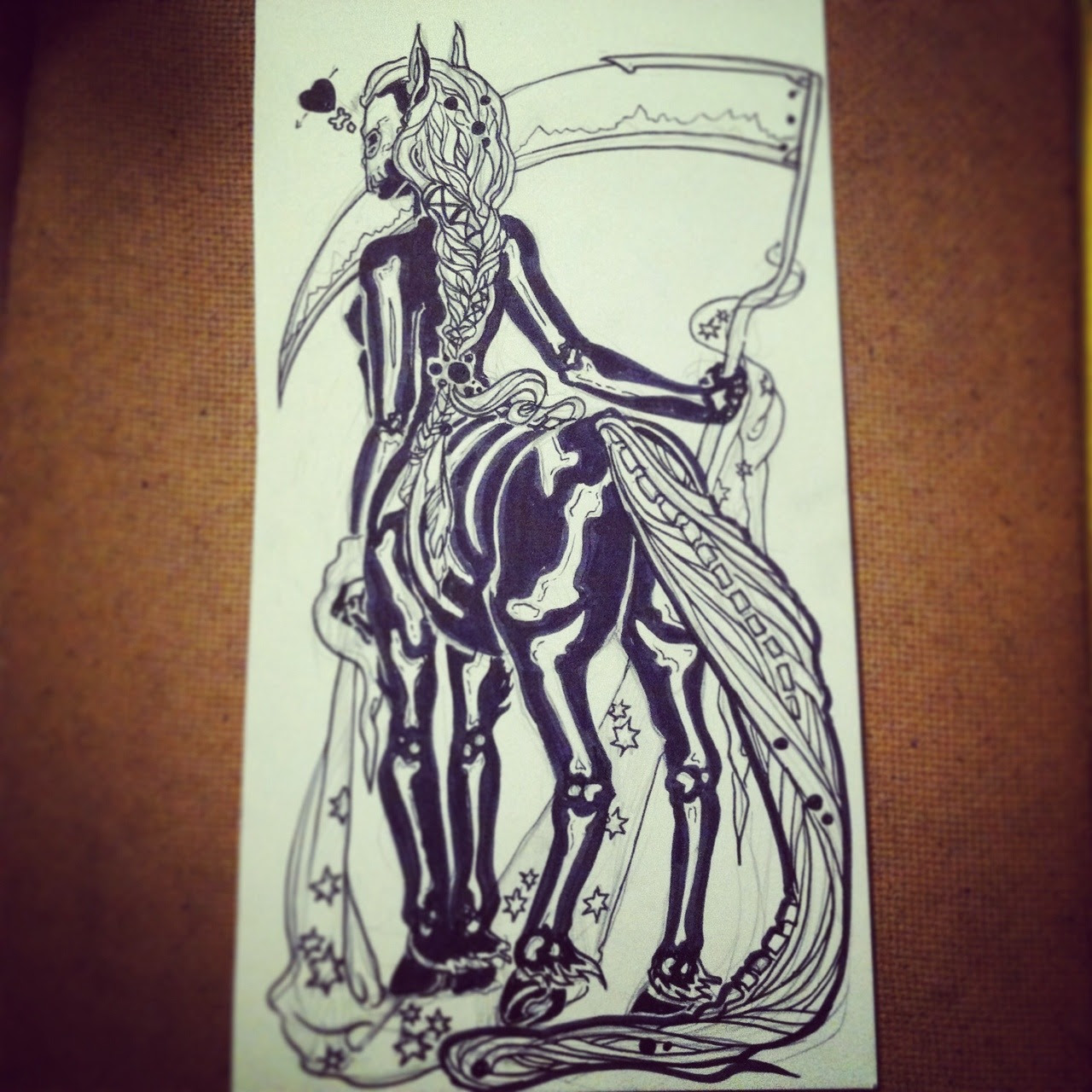 Inktober day 3 and monster girl 2 centaur