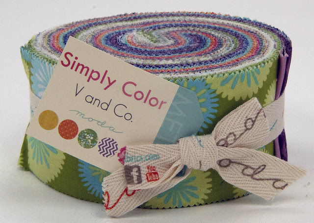 Simply Color Jelly Roll for Friday's Fabric Giveaway!