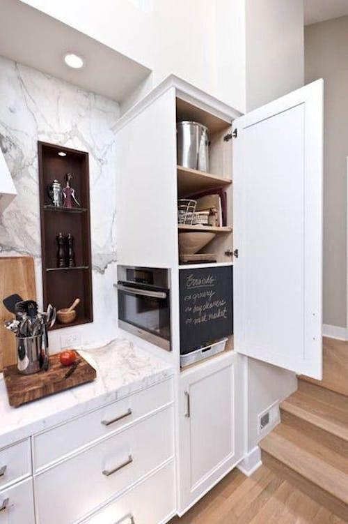 Kitchen design: ideas for hiding the microwave. - Victoria ...