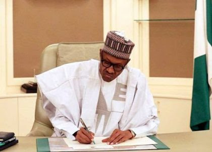 Image result for President Buhari Signed Two Instruments Today