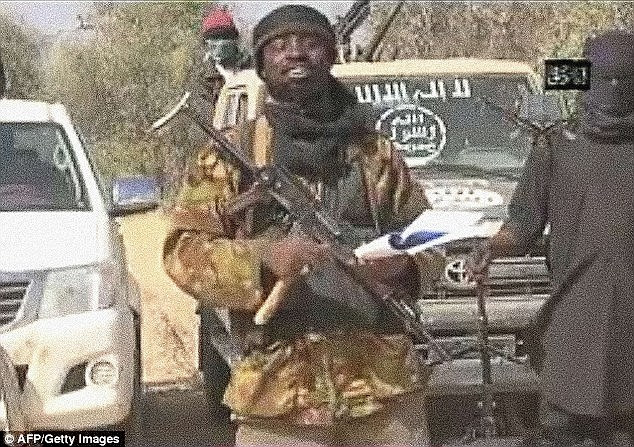 Brutal: Boko Haram chief Abubakar Shekau (pictured) declared the northeast Nigerian city to be the capital of a new Islamic caliphate after he seized the town in August