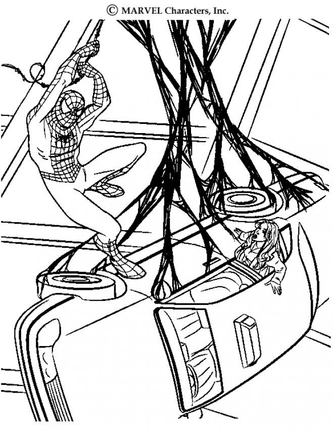 The Amazing Spiderman Coloring Pages Hellokidscom