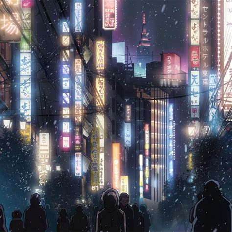 anime japan cityscape ipad air wallpaper art anime