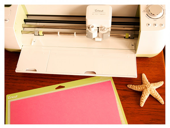 Preparing to cut cardstock with Cricut Explore