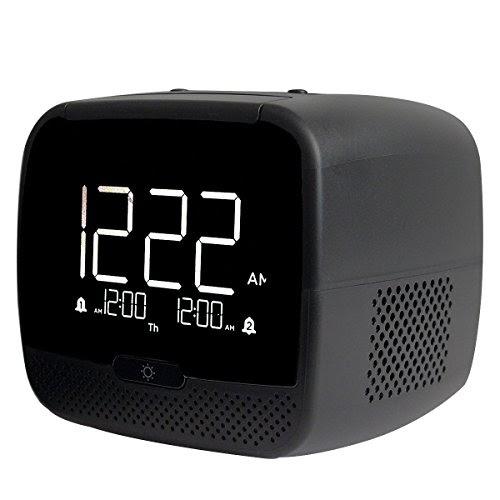 alarm clock with digital radio tivdio rt 4503 dual alarm clock radio with w. Black Bedroom Furniture Sets. Home Design Ideas