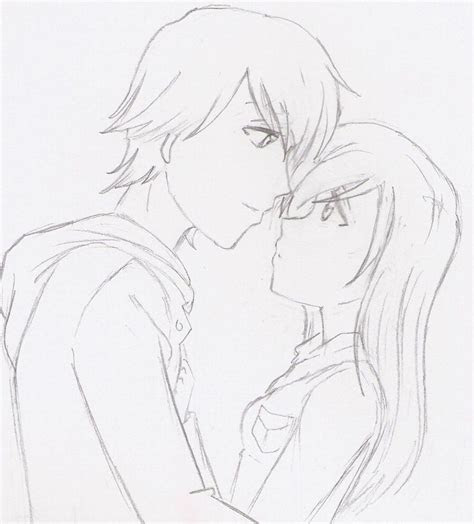 anime couples  bubbles drawing couples