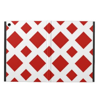 Red Diamonds on White iPad Air Cover