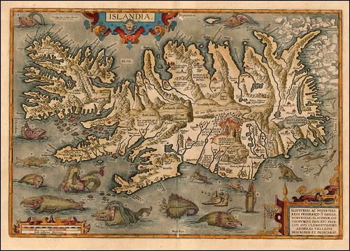 Islandia 1609 Abraham Ortelius (raremaps.com)
