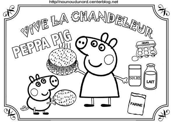 Chandeleur Peppa Pig Fait Des Crêpes