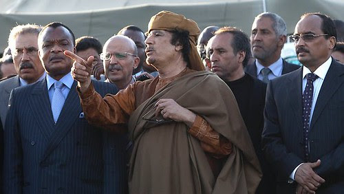 Libyan leader Muammar Gaddafi met with a delegation of African heads-of-state from the AU and agreed to the conditions for a ceasefire in the fighting with the western-backed counter-revolutionary rebels fighting in the east of the North African state. by Pan-African News Wire File Photos