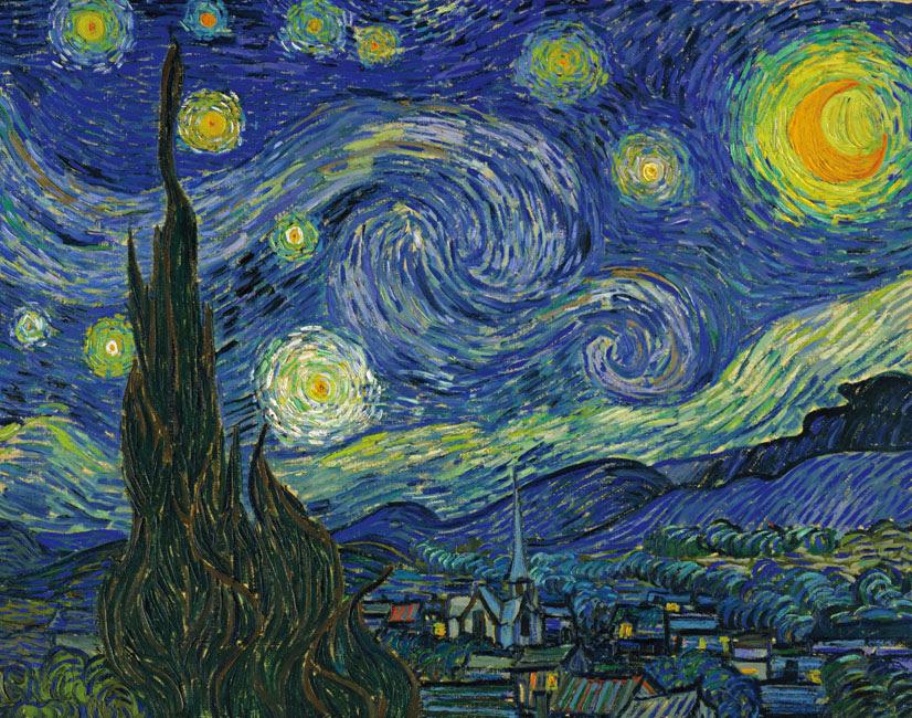 Van Gogh, Starry Night, 1889.