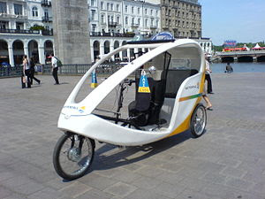 Mordern Rickshaw in Hamburg, Germany.
