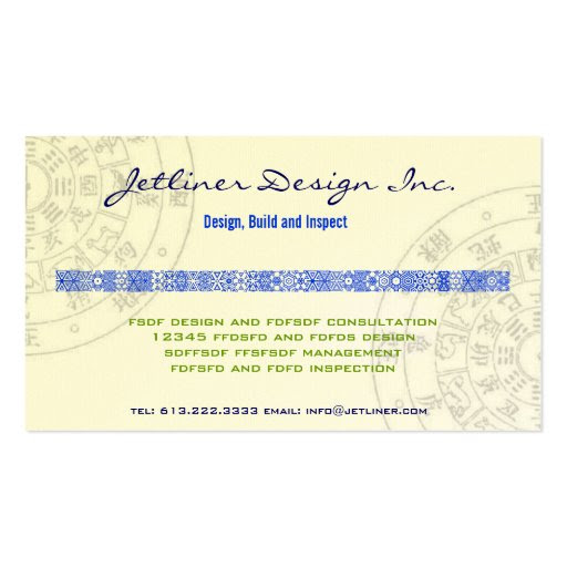 Feng-Shui, Interior design Consulting Inc. Business Card Templates