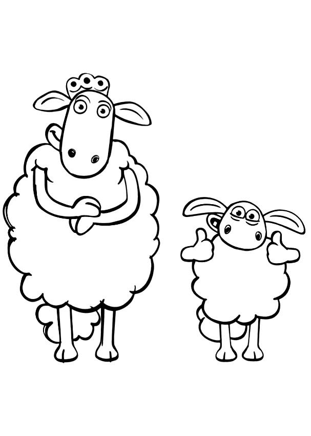 Coloriage De Timmy Et Maman Mouton Di Shaun Le Mouton
