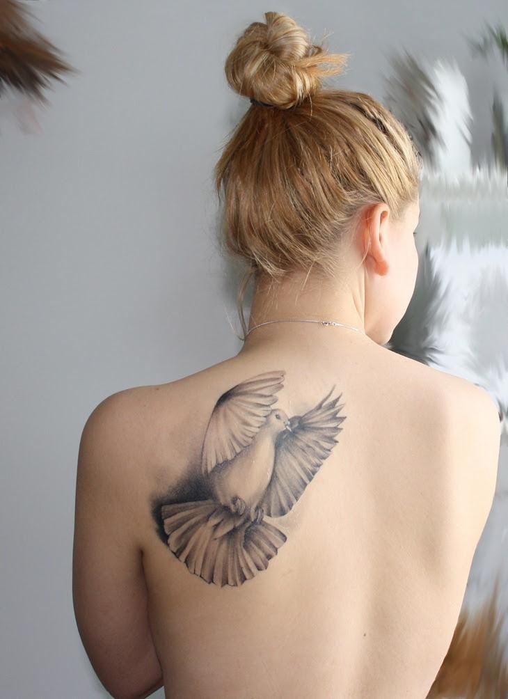 Cute Pigeon Tattoo On Back Shoulder Tattoo On Shoulder
