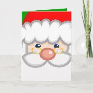 Cheery Santa Card card