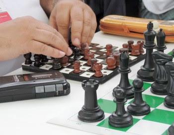 Xadrez, cego, Jogos abertos 2014 (Foto: Ana Carolina Levorato)