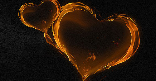 Create a Magical Flaming Heart Illustration in Photoshop