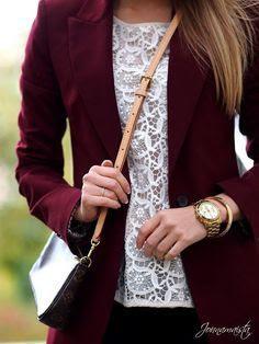 #burgundy #blazer